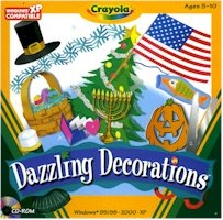 BRAND NEW Crayola Crayola Dazzling Decorations Over 25holiday Decorations Simple Step-By-Step Instructions