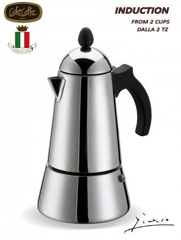 Konica 10-Cup Stainless Steel Stove Top Espresso Maker