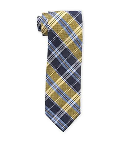 Bruno Piattelli Men's Classic Plaid Tie, Gold
