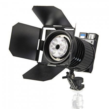 Visico Led Portable Video Continuous Light With Barn Doors & Li-Ion Rechargeable Battery Stepless Brightness