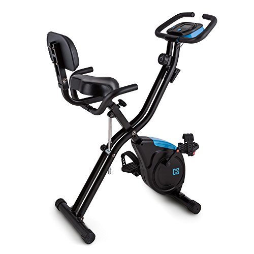 CAPITAL SPORTS Azura 2 X-Bike Cyclette ergometrica (regolabile 8 livelli, display programmi, schienale)