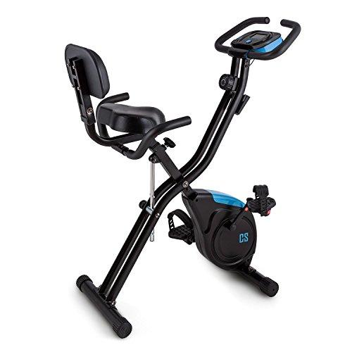 CAPITAL SPORTS Azura 2 X-Bike Cyclette ergometrica (regolabile 8 livelli, display programmi, schienale)