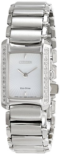 Citizen Eco-Drive Diamond Euphoria Silver Dial Women's Watch #EG2960-57A