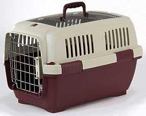Aran 3 Clipper Pet Carrier - Beige/wine 25 X 17 X 16