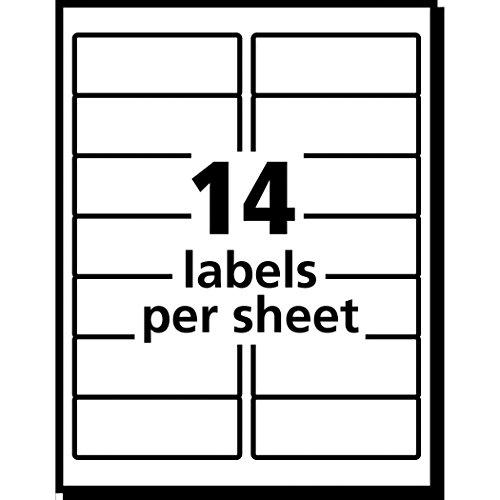 avery easy peel white inkjet mailing labels  8162