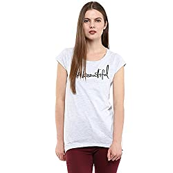 Fritzberg Soft Slim Printed Silver Round Neck Top