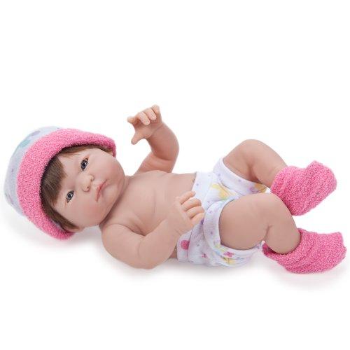 Jc Toys Mini La Newborn Baby Doll, Dark Pink