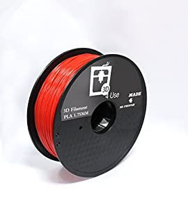 3D Printer Filament PLA Red Color 1.75mm 1kg (2.2 lbs) Dimensional Accuracy +/- 0.05mm. 3D Printing Filament bought to you by 3D4USE. from 3D4USE