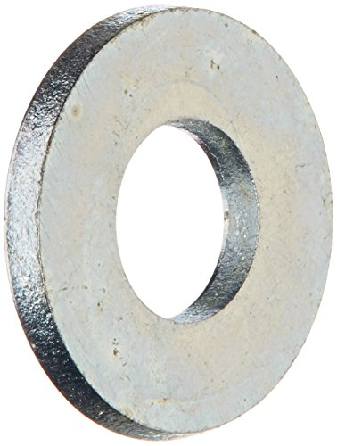 Steel Flat Washer, Zinc Plated Finish, ASME B18.22.1, No. 10 Screw Size, 7/32″ ID, 1/2″ OD, 0.049″ Thick (Pack of 100)