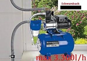 Schwarzbach Hauswasserwerk HWI 55/46F 800W Gartenpumpe Regenfass Hauswasserpumpe  BaumarktKundenbewertung: