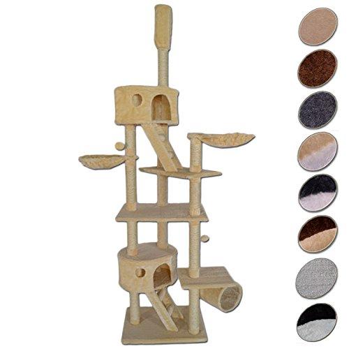 Katzenkratzbaum-Kratzbaum-fr-Katzen-deckenhoch-hhenverstellbar-mit-Deckenspanner-240-260-cm