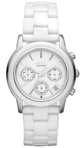 DKNY Chronograph White Ceramic Ladies Watch NY831