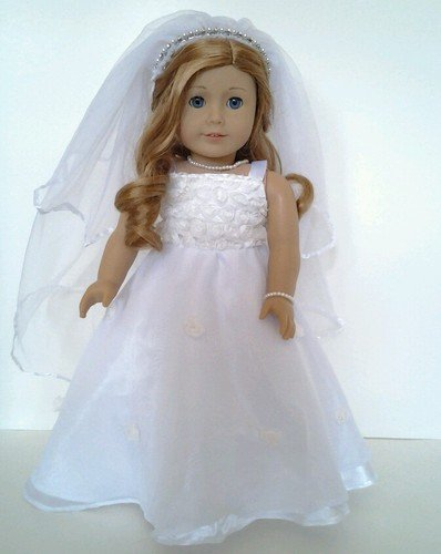 Dollsandtoy shop for dolls and girls toy for American girl wedding dress