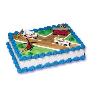 Emergency Rescue Vehicle Cake Decorating Kit