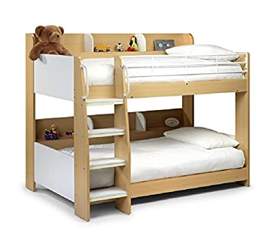 3Ft Jb Domino Maple Bunk Bed + 2 X 3Ft Gold Tufted Bunk Mattress