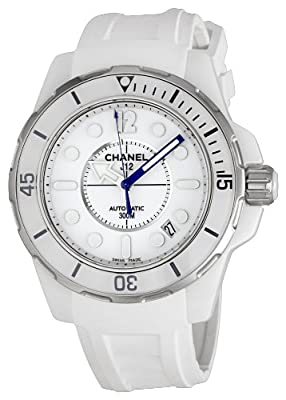Chanel Women's H2560 J12 White Rubber Strap Watch