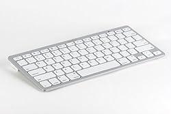 SHARKK Ultra Slim Bluetooth Wireless Keyboard For iPad 2, The New iPad 3, iPad 4, iPad Mini, And All Tablets, Computers and Laptops