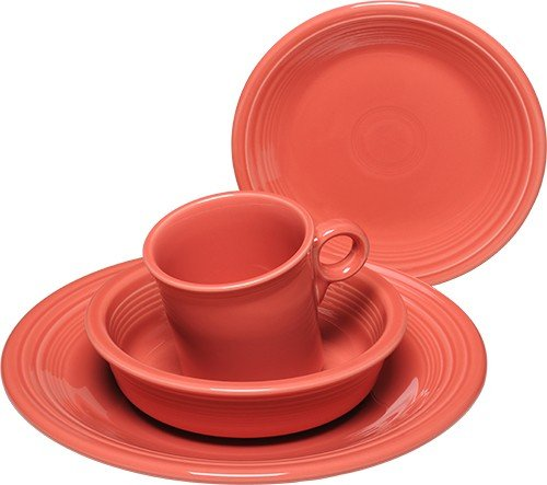 Fiesta 4-Piece Place Setting, Flamingo