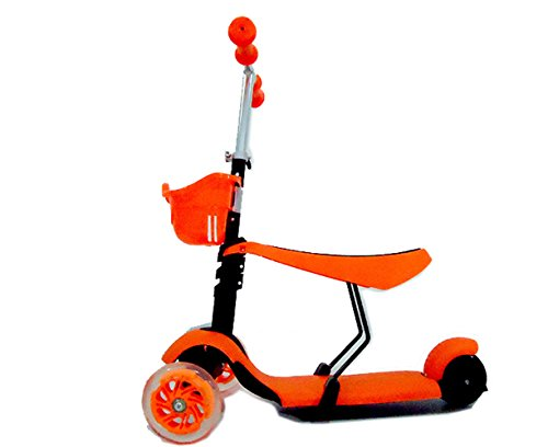 Eminetshop Outdoor Indoor Foldable Scooter Glide Tricycle Steady Trike for Kids Toddlers