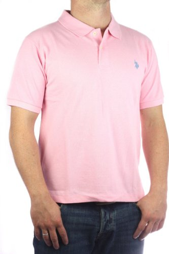 US Polo Assn. Men´s Small Pony polo shirt pink-blue mens