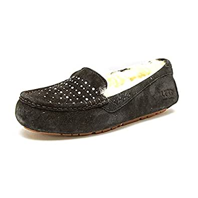 UGG Women's Ansley Bling Slipper (Black Suede 5.0 M)