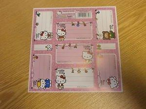 Nom étiquettes autocollantes Motif Hello Kitty