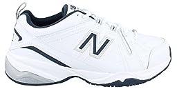 New Balance Men\'s MX608V4 Training Shoe,White/Navy,13 4E US