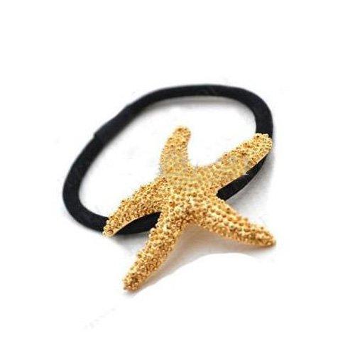 Womdee(TM) Golden Kristall Metall Seestern Elastisch Strecke Pferdeschwanz Fasser HaarBand-Golden Mit Womdee Accessorie Halskette