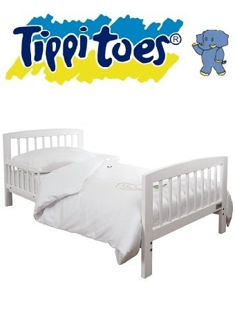 Tippitoes WHITE Wooden Junior Bed + Deluxe SPRING Mattress