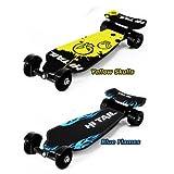 ☆スケボー☆Hi Tail FootBoard ハイテール フット クルーザー ニュータイプ コンプリート スケートボード (ブルー)