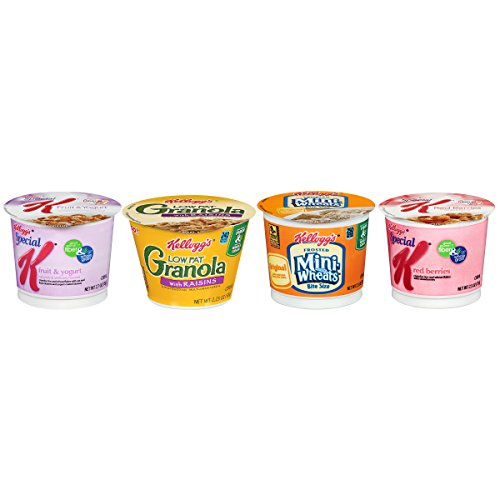 Kellogg's Cereal Cup Assortment Pack - Wellness, 4 flavors (Pack of 24)