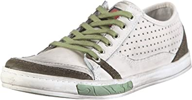 "Timezone Kayan SG ""sportnappa"" 91122, Herren, Sneaker, Weiss  (white / green S134), EU 46"