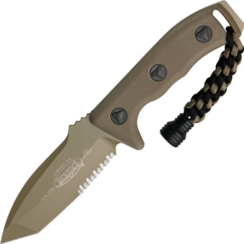 Micro Tech Knives 1032Ta Microtech Currahee T/E Green Partially Serrated With Od Green Handles