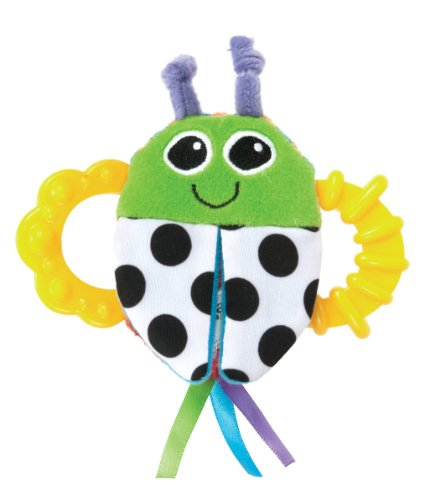 Lamaze High-Contrast Flip-Flop Bug Rattle back-1042071