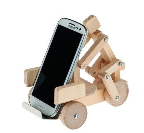 Lustige Handy Aufbewahrung Rikscha Handy Ablage Bausatz aus Holz