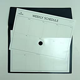 Vintage Pouch A4 with Big Weekly Schedulers (Black)