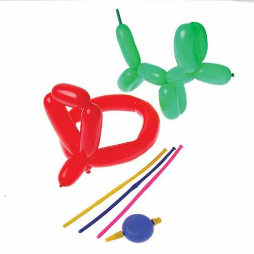 Animal Balloons with Pump Latex (12 per package)
