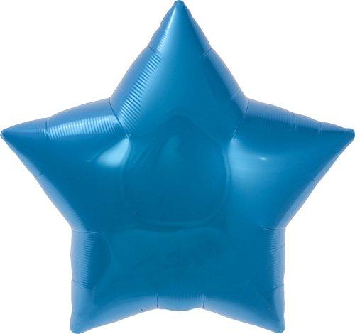 Blue Star Helium Foil Balloon - 22 inch