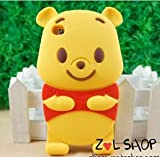 amcctvshop 3D Cute The Pooh Bear Soft Silicone Case for ipod Touch 4