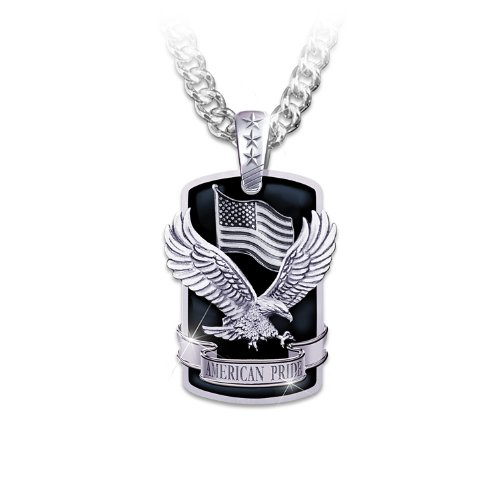Dog Tag Pendant Necklace: American Pride by The Bradford Exchange