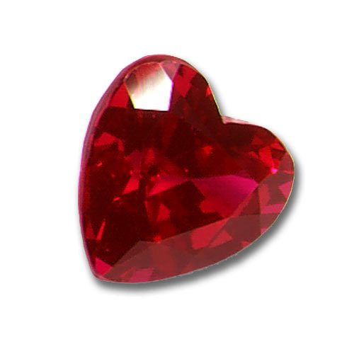 3x3mm Heart Shaped Gem Quality Chatham-Created Cultured Ruby .14-.17 Ct.