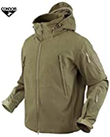 Condor 602 Summit Soft Shell Jacket, Tan + FREE Matching Tan Velcro Flag Patch