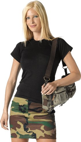 Woodland Camouflage Womens Short Mini Skirt 1016 Size XS