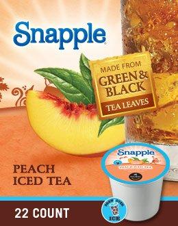Snapple Peach Iced Tea K-Cups,Peach,22-Count/pack,2 pack (Keurig Tea K Cups Peach compare prices)