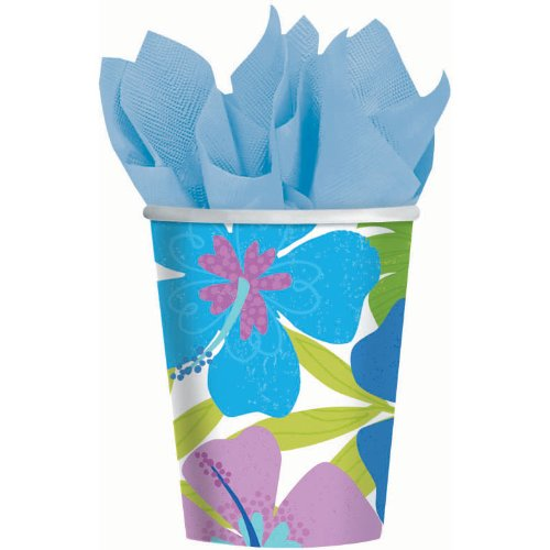 Floral Paradise Cool 9 oz Paper Cups (8 per package)