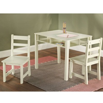 Tms 3-Piece Kids Table With Chairs Set, Antique White front-813785