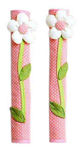 Set of 2 Creative Refrigerator Door Handle Covers Handle Protectors Flower (Pink Door Handle Covers compare prices)