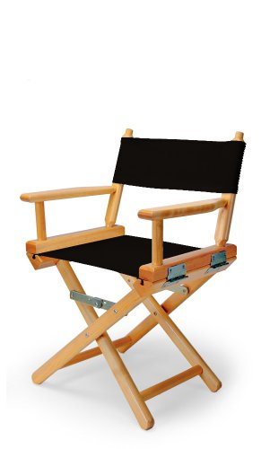 Telescope Casual Child's Director Chair, Black with Varnish Frame