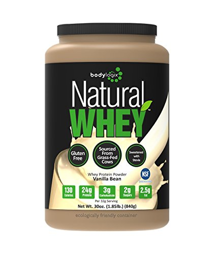 Bodylogix Natural Whey Protein Nutrition Shake, Natural Vanilla Bean, 1.85 Pound (All Natural Protein Powder compare prices)