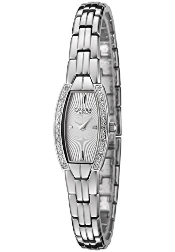 Caravelle Ladies Analog Stainless Steel Watch With 14 Diamonds 43R004